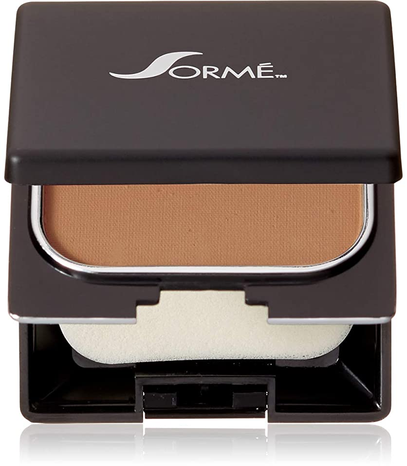 ホイップ洞察力乱すSorme Cosmetics Believable Finish Powder Foundation, Golden Tan, 0.23 Ounce by Sorme Cosmetics