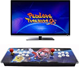 HAAMIIQII Pandora Treasure 9s Arcade Game Console - 3100 Retro Games Pre-Loaded, Search/Save/Hide/Delete Games, 1280x720P, 4 Players Online Game, Favorite List, 2 Player Game Controls