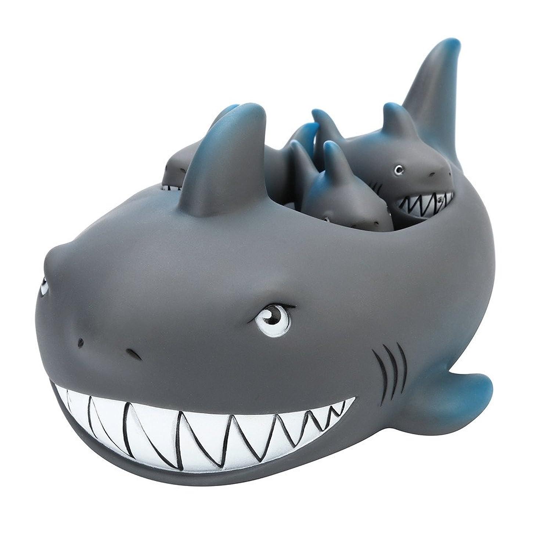 子供のためのバスタブのおもちゃを浮かべるかわいいサメの家族のバスタブの仲間Shrillingゴム Redvive
