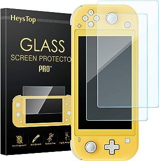 HEYSTOP Nintendo Switch Lite 保護フィルム, ニンテンドースイッチ ガラスフィルム 任天堂Switch専用 【2枚セット】ブルーライトカット 9H硬度 ガラス飛散防止 指紋防止 気泡ゼロ 高透過率 全画面保護 極薄