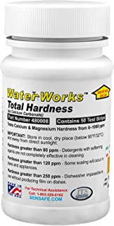 Industrial Test Systems WaterWorks 481108 Total Hardness Test Strip | 3 Second Test | 0-1000ppm Range | Bottle of 50 Tests...