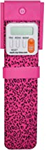 Mark-My-Time Pink Leopard LED Book Light with Digital Bookmark and Reading Timer