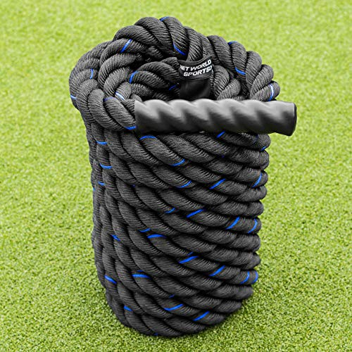 METIS Cuerda de Batalla │Battle Rope de Fitness │ Longitud 9m/12m/15m Grosor 38/50mm