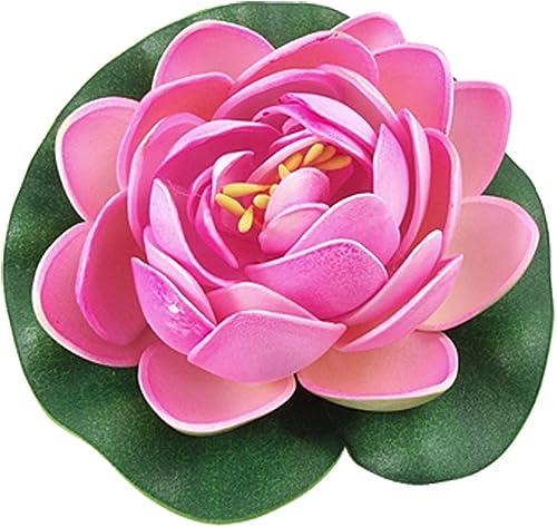 Mallofusa Aquarium Garden Pond Floating Lotus Decoration (Pink)