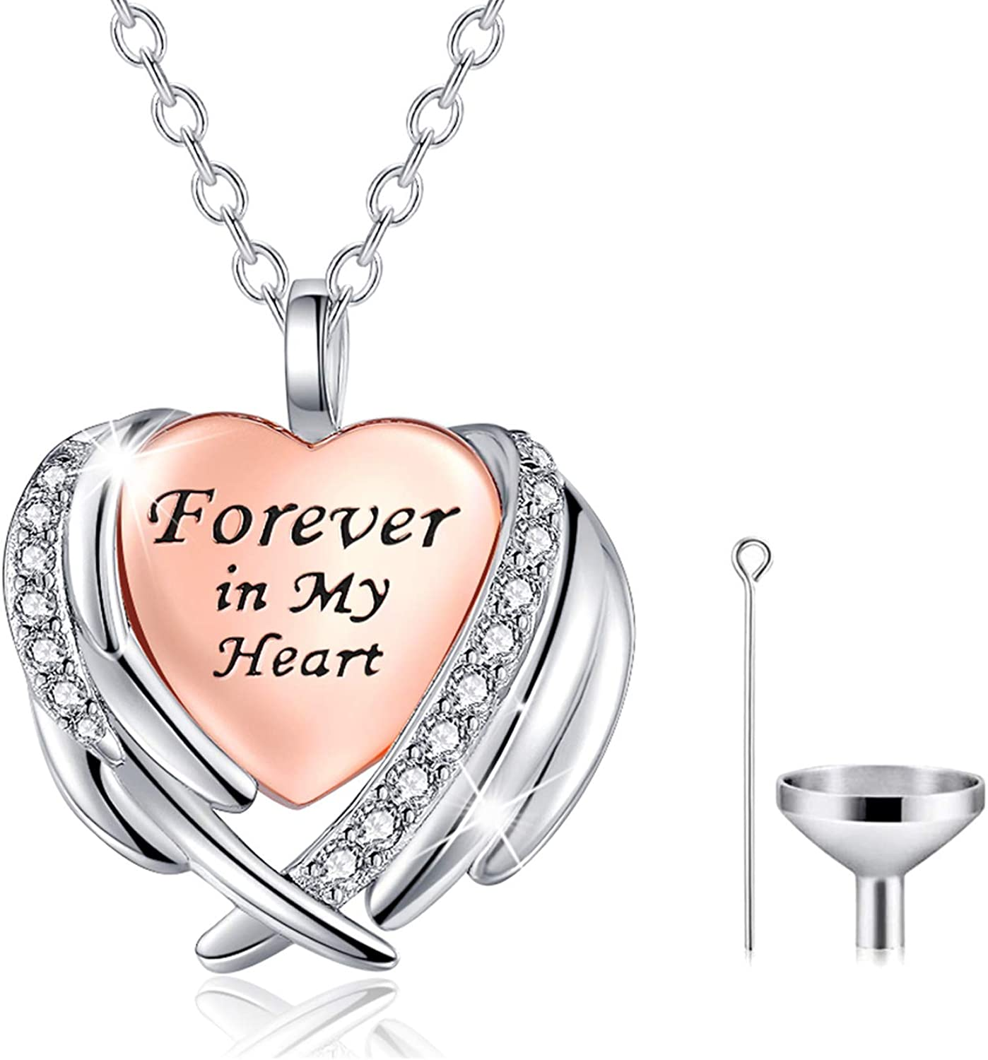Urn Necklaces for Ashes Cremation Angel Jewelry Ranking TOP9 Sterling Silver Super intense SALE