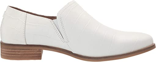 White Croc Emboss Leather