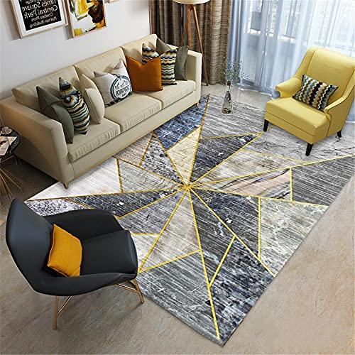 office chair mat for carpet Living Room Carpet Gray Geometric Hairness Anti-Pollution room decor rugs for bedroom 160X230CM 5ft 3'X7ft 6.6'