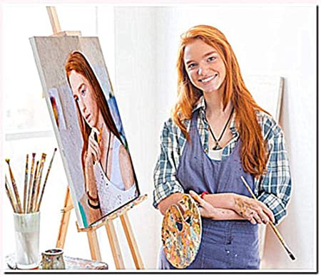 Yeesam Art Customize Paint By Numbers Kits With Your Own Photos Pictures Personalized Custom Made Photo Diy Number Painting For Adults Linen Canvas With Frame 16 X20 Amazon Co Uk Kitchen Home