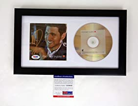 michael buble signed cd