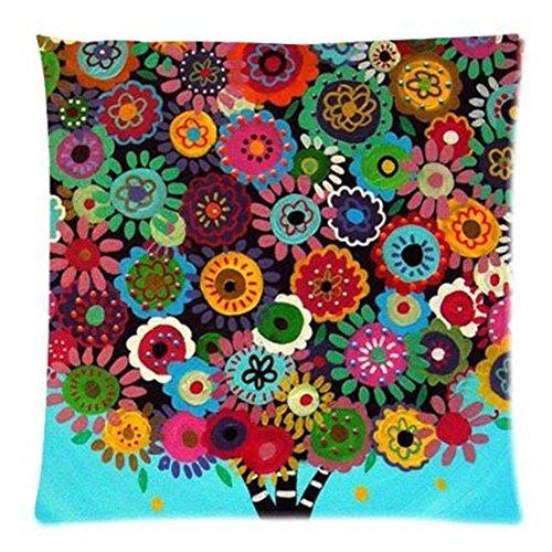 LarryEShop Elegante Motivo e Strisce Stile Messicano Decorativo Stampato 45,7x 45,7cm Cuscino in Cotone e Lino.