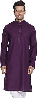 STYLE INSTANTMen's Tunic Cotton Kurta Pajama Set Indian Traditional Wedding Wear
