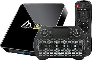 comprar comparacion Android TV Box 10.0 4GB 32GB Amlogic S905X3 Decodificador Smart TV Box con teclado inalámbrico retroiluminado USB 3.0 ultr...