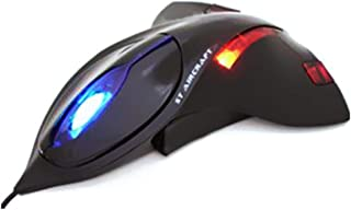 xiaoxioaguo 2400 DPI airplane wired gaming computer mouse USB receiver PC computer mouse Black