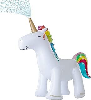 Leader Accessories Unicorn Sprinkler Inflatable Water Toys & Splash Play Mat (Unicorn Sprinkler 5.8ft)