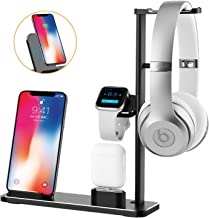 Wireless Charger Stand, XUNMEJ Watch Stand Station for Apple Watch 4 3 2 1 Charging Dock Station Headphones Stand Holder Phone Docking Station for Phone Xs X Max XR iPad