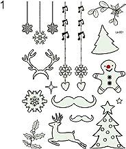Sanwooden Lovely Tattoo Sticker Luminous Temporary Body Art Tattoo Sticker Christmas Carnival New Year Decor Fashion Chris...