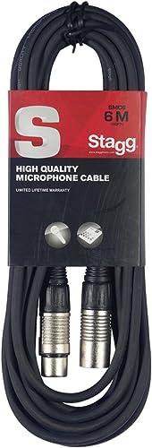 Stagg 6 m Câble Microphone XLR - XLR de Haute Qualité - Noir