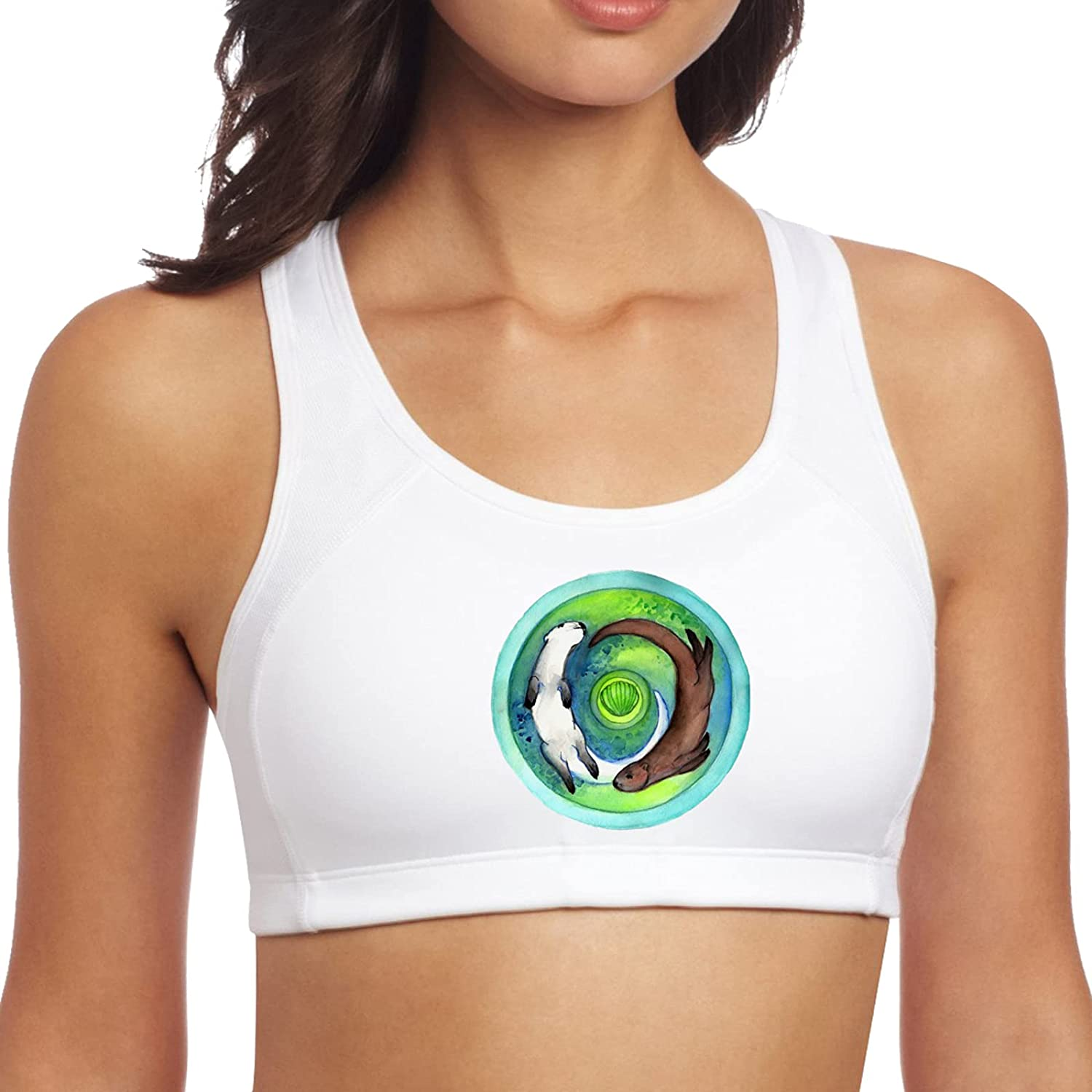 Sale price Yin Yang Otter Women's Popular shop is the lowest price challenge Yoga Seamless Sports Padded Leisure Tops