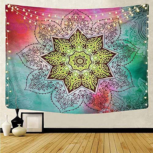 Tapiz psicodélico de Mandala, tapiz de pared, tapiz de brujería psicodélico, tapiz de pared, Mandala, tapiz de alfombra, manta A1 130x150cm