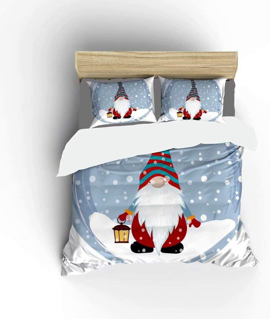 FlowerFish Christmas Max 43% Ranking TOP16 OFF Scandinavian Gnomes Ultra Soft Ligh Bed Set