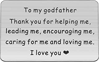 HOLLP Godfather Wallet Card Thank You Gift Baptism Gift for Men Thank You for Helping Me Jewelry