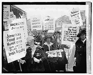 HistoricalFindings Photo: Irish Demonstration,Women March for Free Erin,April 1920,Washington,DC,1