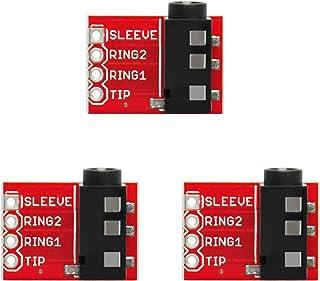 Gikfun TRRS 3.5mm Jack Breakout Headphone Video Audio MP3 Jack for Arduino (Pack of 3pcs) AE1223