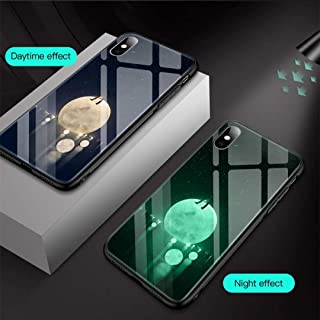 iPhone Case. Glowing Case, Anti-Scratch, Drop Resistance, Full Protection 360, Camera Protection, 6-Layer Design, Soft Edge: iPhone X Case (Boy and The Moon, iPhone X)