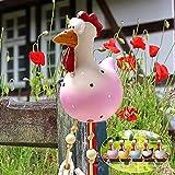 Huhn Deko Garten Keramik Huhn Gartendeko, Deko Hühner Figuren Garten Huhn Gartenstecker Tiere Garten Dekoration Figuren für Außen, Harz Statue Bauernhof Balkon Wohnzimmer Office Deko