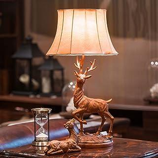Tischlampe Nachttischlampe Wohnzimmer Wohnzimmer Wohnzimmer Studie Schlafzimmer Luxus Luxus Elch Jahrgang warm europäischen amerikanischen A (Farbe   Gold) B078S5JKS5  Modisch 7311ee