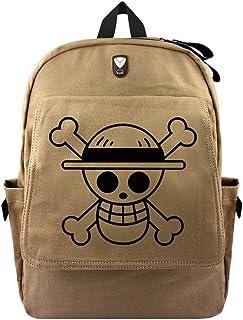 One Piece Anime Bolsa de Lona Bolso de Escuela Estudiante Mochila de Viaje Casual Backpack