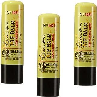 Lot of 3 Bath & Body Works C.O. Bigelow Lemon Lip Balm Stick (No Shine Formula) No. 1421 - NEW STYLE PACKAGING