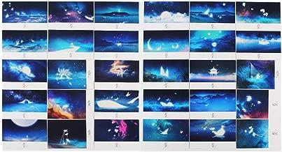 Mingo 30pcs Vintage Luminous Postcard Glow In The Dark Looking At The Light