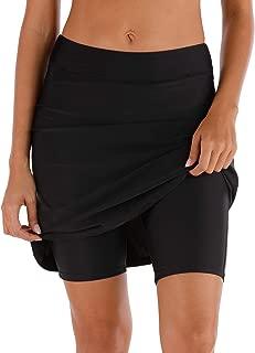 Women's Swim Skirt Shorts Bottoms High Waisted Athletic Skirt Sun Protection Skirted Skorts UPF 50+