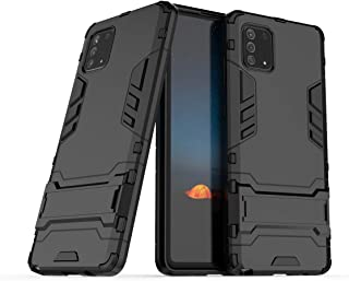 Boleyi Case for Infinix Hot 9 Pro, Full Body Shock Resistant Armour Cover, with Kickstand, Cover for Infinix Hot 9 Pro,(Bl...