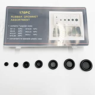170PCS Rubber Grommet Firewall Hole Plug Set Electrical Wire Gasket Wonderful