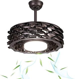Aboyia - Moderno ventilador de techo invisible, lámpara de araña LED, ventilador de techo de 22 pulgadas, luz adecuada, para salón, dormitorio, iluminación