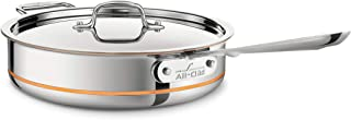 All-Clad 6403 SS Copper Core 5-Ply Bonded Dishwasher Safe Saute Pan with Lid / Cookware 5-Quart Silver CLD-016