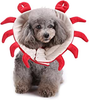 BBZone Protective Dog Recovery Cone Collar Soft Cats Dogs, E-Collar Crab Pattern Style Prevent Pets from Touching Stitches, Adjustable Lightweight Pet Recovery Collars for Surgery, Anti-Bite Lick