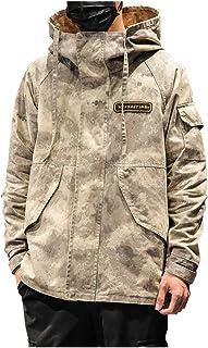 Chaqueta Militar Hombre Camuflaje Abrigo Cuello Alto Talla Grande Cazadoras Al Aire Libre Windbreaker con Capucha Casuales...