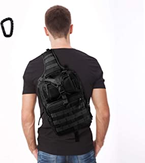 FUNANASUN Tactical Sling Backpack Bag Military Molle Assault Pack Rucksack Daypack for Outdoors Camping Hiking Hunting