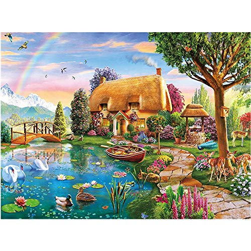 DIY 5D Adult and Children Diamond Painting kit, Complete Diamond Landscape Text Embroidery Diamond Inlay, Used for Home Wall Decoration Gifts (12x16 inches)