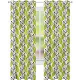 YUAZHOQI - Cortinas para oscurecer habitación (2 paneles), color verde