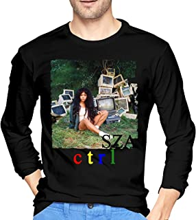 AlbertJ Men's SZA Ctrl Long Sleeve T-Shirt Black