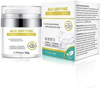Isend Crema hidratante de retinol para la cara Crema Antiarrugas con retinol 2.5% y ácido hialurónico para hombres y mujer...