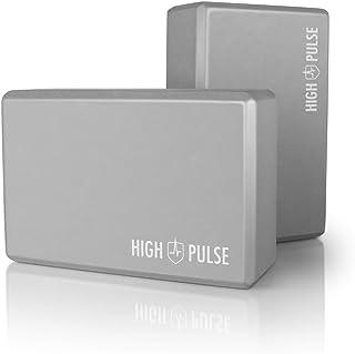 High Pulse Yoga Block Set van 2 (hardschuim, grijs) - Hoogwaardige yogablokken van schuim als praktisch accessoire en hulp...