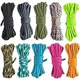ruiyoupin Paracord pulsera Set cuerdas poliéster cuerda DIY tejidos para pulsera Schlüsselanhänger Knüpf seguidores