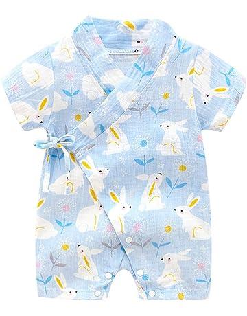 329494f489f ベビー服 浴衣 甚平 新生児服 ロンパース Kukoyo 半袖 カバーオール 前開き 赤ちゃん 男の子 女の子 可愛い プリント