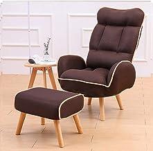 BRSL دوران 360 درجة من كراسي الخشب الصلب القابلة للطي، وكراسي شمسية أنيقة، وغرفة المعيشة والشرفة (اللون: D)