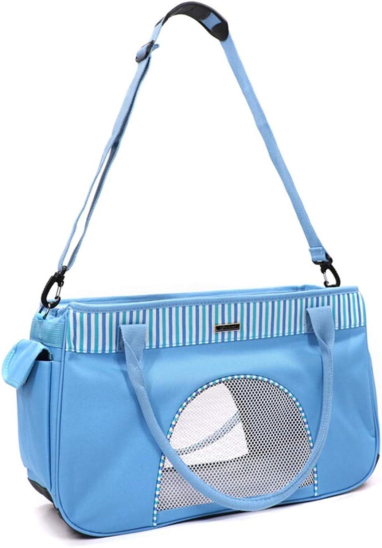 DR  Pet Bag  Summer Breathable Bag Dog Out Carrying Bag Cat Handbag Bag Bag Cat Bag Three Sides Large Network Mouth pet Bag Carrier (color   A, Size   43CMX18CMX27CM)
